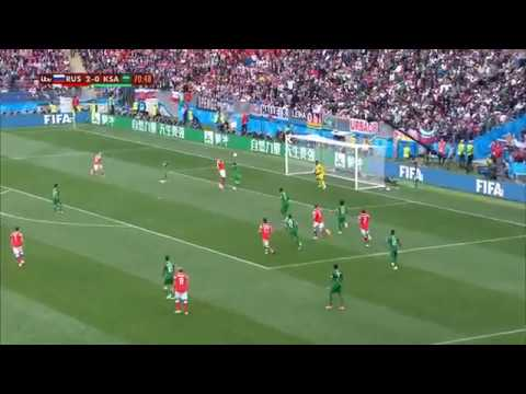 گل سوم روسیه به عربستان (زیوبا) - جام جهانی 2018 روسیه | Navad