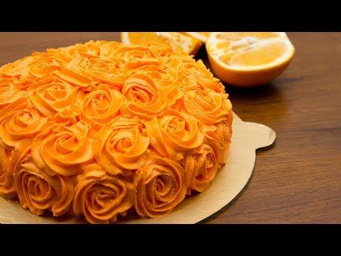 پخت کیک-تهیه کیک پرتقالی - بدون فر