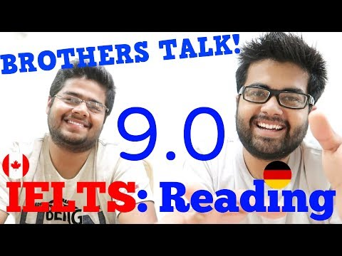 IELTS Reading 9.0 Band: Brothers Talk