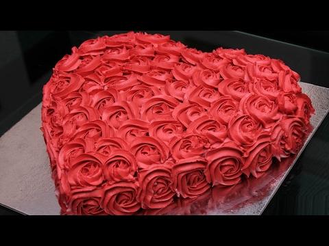 آشپزی -تزیین کیک عاشقانه