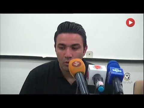 کنفرانس خبری پس از بازی فولاد   نساجی مازندران