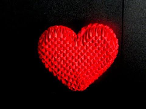 3D Origami  small Heart tutorial || DIY paper heart