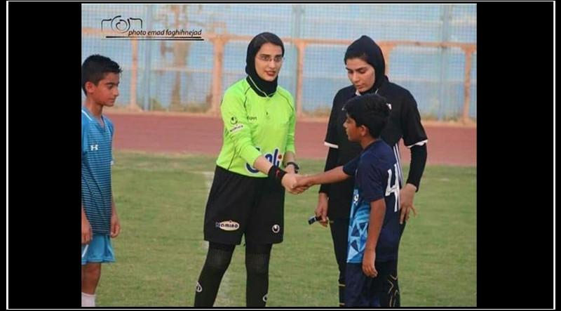 جنجال قضاوت داوران زن در بازی پسران-داوران زن بوشهر-داوران زن فوتبال