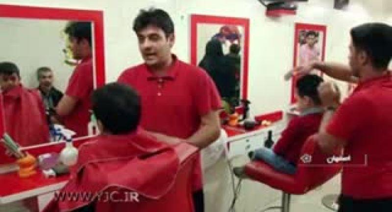سرعت باورنکردنی آرایشگر اصفهانی در اصلاح موی سر