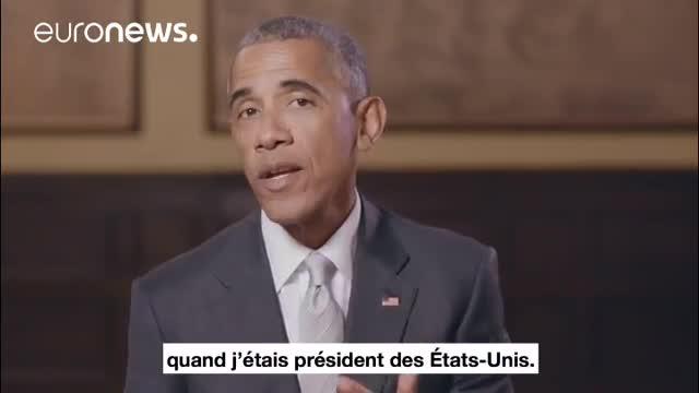 پیام ویدئویی باراک اوباما به مردم فرانسه در حمایت از امانو