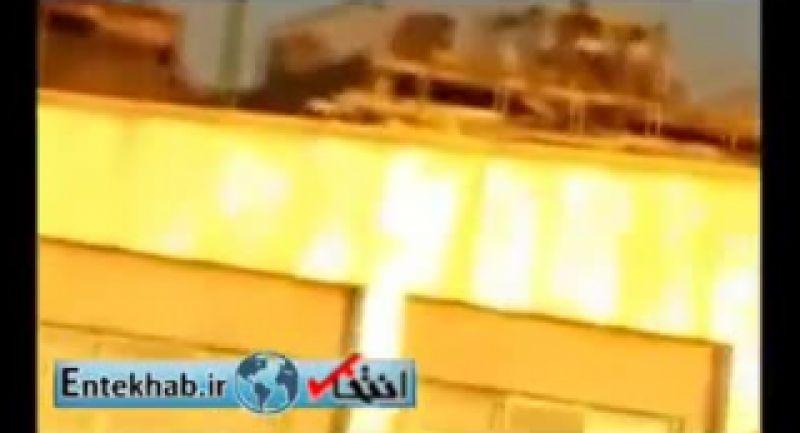 فیلم_ لحظه شلیک ضدهوایی در آسمان تهران