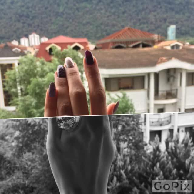 انگشتر حباب گل و نگین دکوریکور