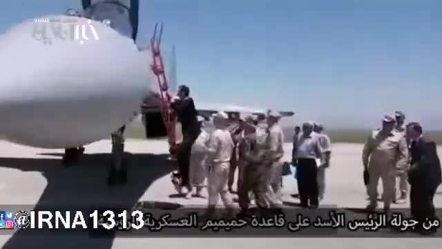بشار اسد سوار بر جنگنده سوخو35 روسی