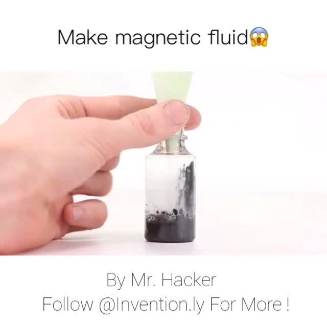 طریقه ساختن آهنربای مایع!