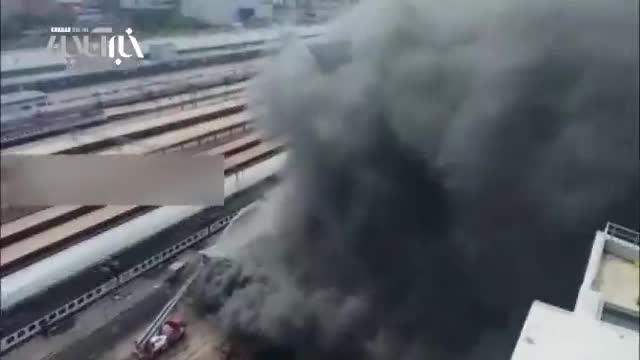 آتشسوزی در ایستگاه راهآهن مسکو