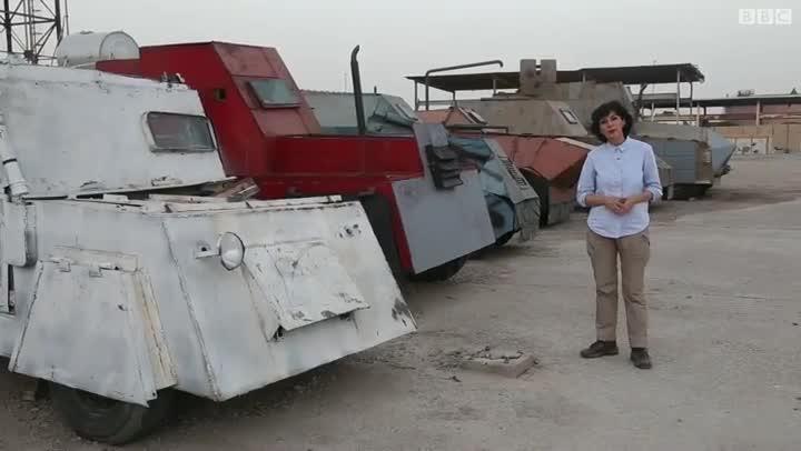 فیلمی عجیب از خودروهای انتحاری داعش