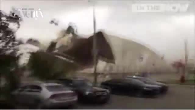 طوفان شدید در مسکو روسیه