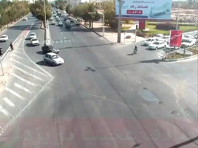تصادف عجیب دیروز در یزد!