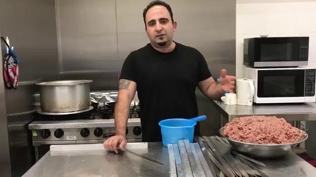 آموزش به سیخ کشیدن كوبيده-روش صحيح پخت و باد زدن.همراه با جواد جوادی