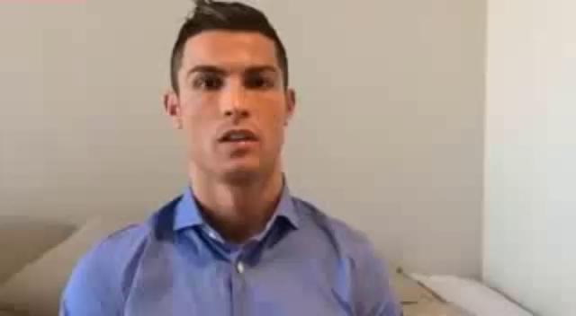 """پیام تصویری فوق ستاره فوتبال جهان """" کریستیانو رونالدو"""" برای کودکان سوریه"""