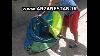 جمع کردن چادر مسافرتی