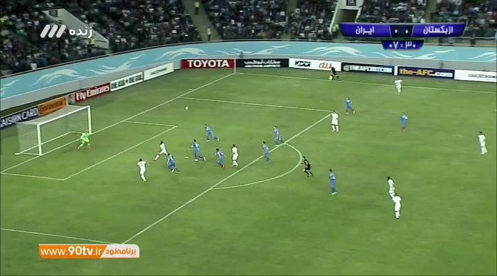 خلاصه بازی ایران 1 - 0 ازبکستان