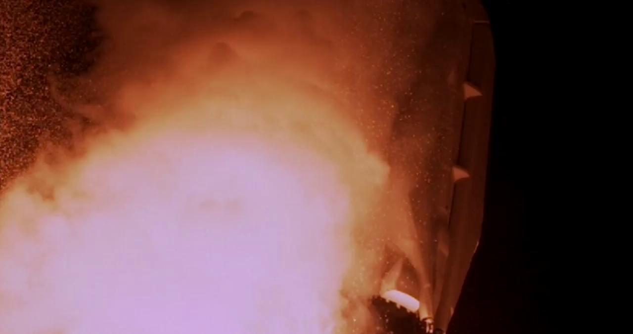لحظهی پرتاب راکت فالکون SpaceX با دوربینهای سرعت بالا