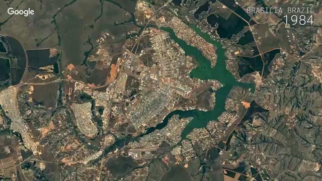 ویژگی جدید گوگل ارث - تماشای 32 سال گذشته زمین به صورت تایم لپس