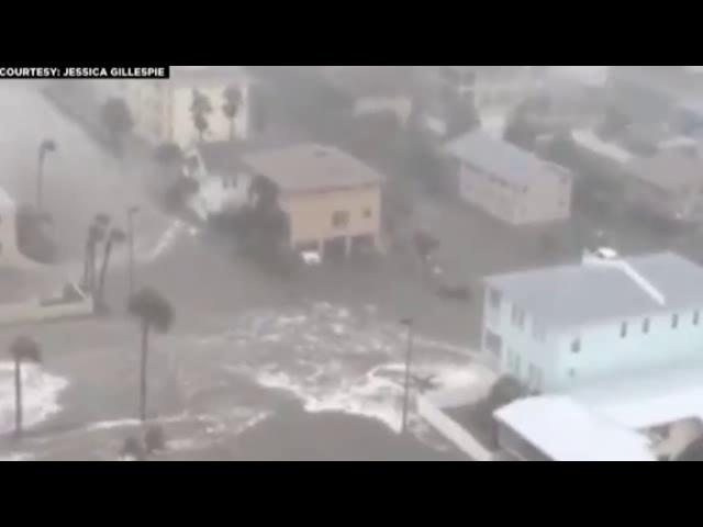 طوفان سهمگین متیو در فلوریدا اندکی از نا افتاد اما همچنان تهدید می کند