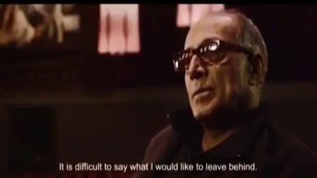 پاسخ عباس كيارستمي به سوال دوست داريد از شما چه به يادگار بماند؟