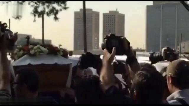 تشییع پیکر عباس کیارستمی و صحبت های صریح اصغر فرهادی