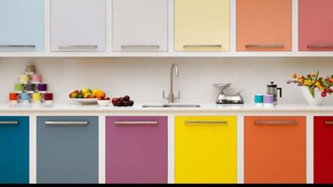 کابینت آشپزخانه رنگی