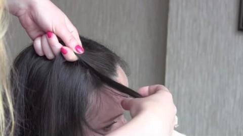 کلیپ آموزش بافت یکطرفه مو + مدل بافت مو خطی