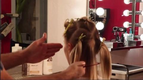 فیلم هایلایت کردن فویلی مو کوتاه + رنگ مو روشن