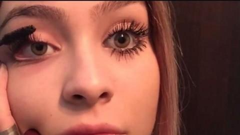 فیلم آرایش مژه + آموزش ریمل زدن و فر کردن مژه