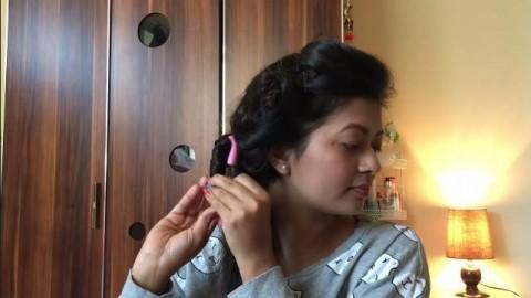کلیپ آموزش فر کردن مو بدون حرارت + بیگودی اسفنجی