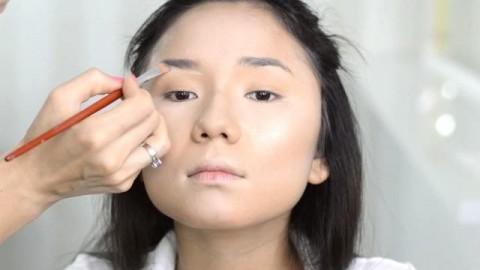 فیلم آموزش آرایش کره ای با سایه چشم تیره +  میکاپ دخترانه
