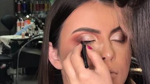 کلیپ آموزش گریم و زیر سازی آرایش صورت + میکاپ چشم