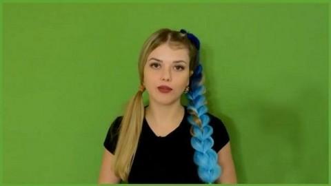 فیلم آموزش بافت موی پهن دخترانه با اکستنشن مو فانتزی