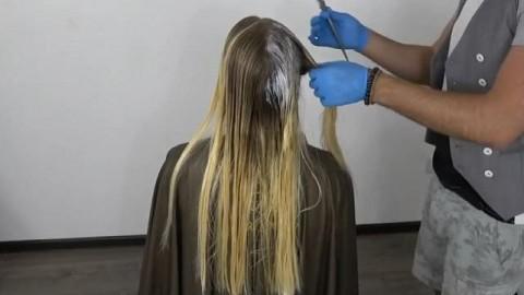 فیلم آموزش هایلایت کردن مو + شینیون باز مو