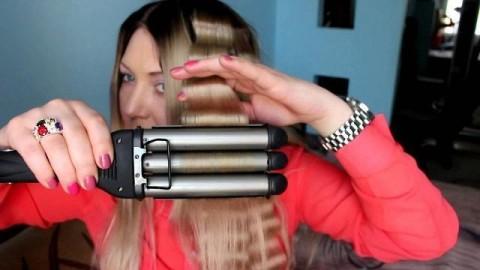 کلیپ آموزش موج دار کردن مو + نحوه استفاده از دستگاه موج مو تفنگی